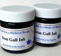 Two jars Iron Gall Ink with Free Principal EF nib 1