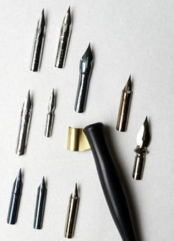 Copperplate Nib Selection 1