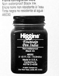 Higgins Fountain Pen India Ink 1