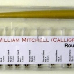 Box of William Mitchell Round Hand Square Pens Set