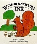 Winsor & Newton Drawing Ink Burnt Sienna 14ml 1