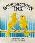 Winsor & Newton Drawing Ink Canary Yellow 14ml 1