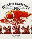 Winsor & Newton Drawing Ink Nut Brown 14ml 1