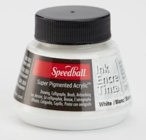 speedball super pigmented white ink