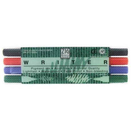 zig kuretake writer markers set of 4