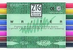 zig kuretake writer markers set of 8
