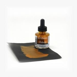 Dr Ph Martins Iridescent Calligraphy Bronze Sample