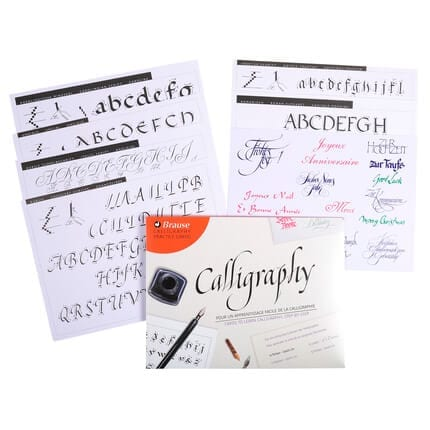 brause calligraphy practice card inner