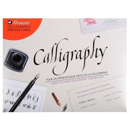 brause calligraphy practice card outer